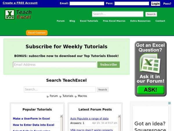 teachexcel.com